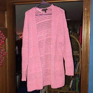Lane Bryant pink cardigan